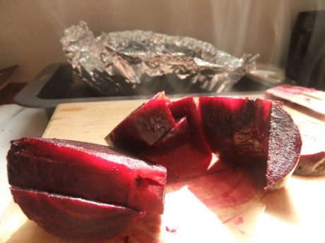 roasted beetroot - like a cut plum