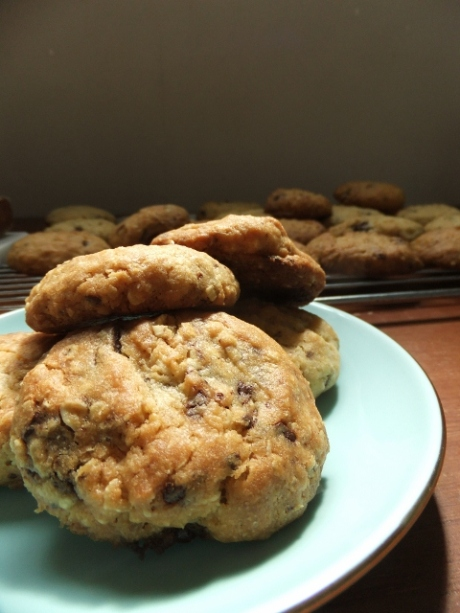 Chocolate oat cookie