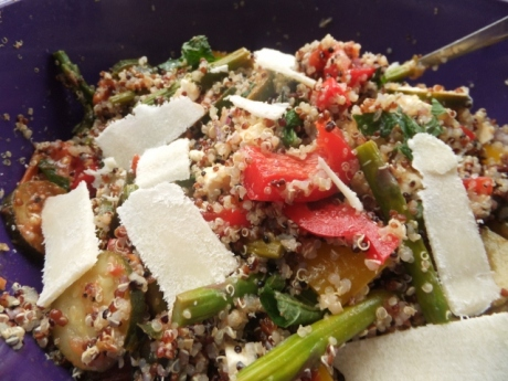 Quinoa Salad with shaved Parmesan