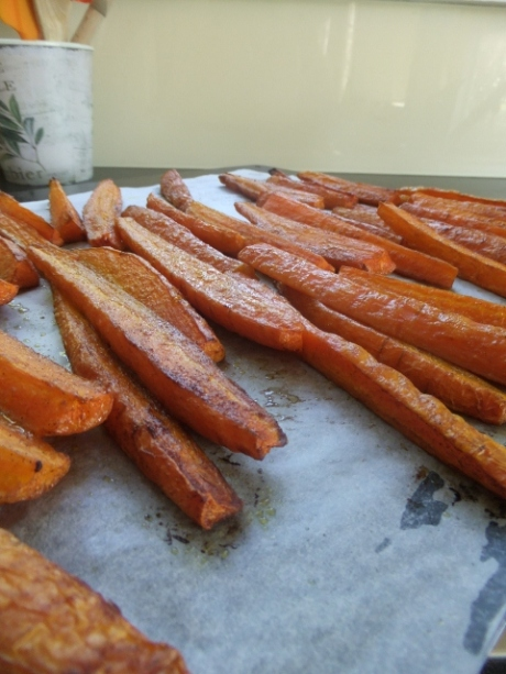 Cinnamon and cumin roasted carrots