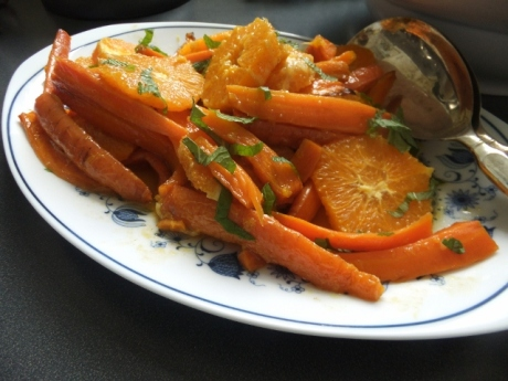 Roasted carrot and orange salad