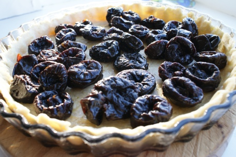prunes ready for almond brandy mix